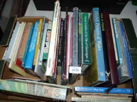 A box of books to include; Garden Visits, Secret Britain, etc.