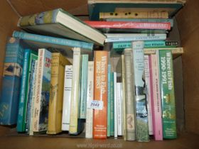 A box of fishing books to include; Fisherman Naturalising by Anthony Buxton, Fishing As We Find It,