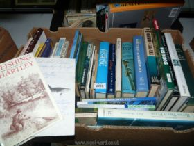A quantity of fishing books to include; Fly Fishing by J.R.
