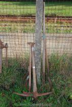 Hay fork, pick axe, scythes etc.