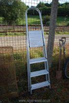 Three rung aluminium step ladder.