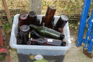 Quantity of old beer bottles etc.