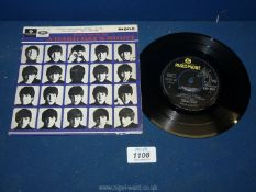 A Beatles 'Extracts From A Hard Days Night' EP with original picture cover.