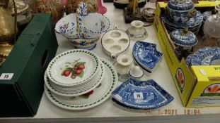 A qty of assorted early and modern china