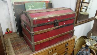 An old travel trunk