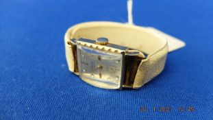 A 14ct gold 'Chalet' ladies watch