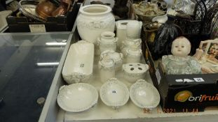 A qty of continental pottery