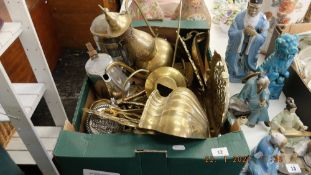 A large qty of brass ware