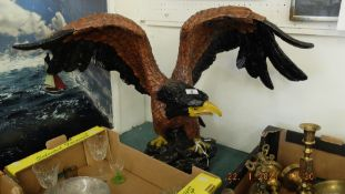 A decorative resin eagle
