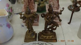 Two Hindu god figures