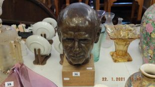 An early 20th century Jewish bust of a man,