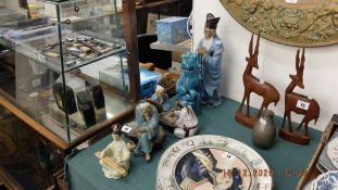A qty of oriental china etc.
