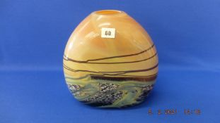 A large studio art glass vase, signed Daniel Edler,