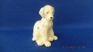 An early USSR porcelain dog