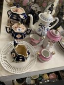 A qty of early China ware, tea set etc.