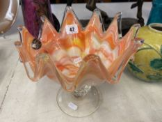 A Murano crystal bowl