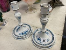 A pair of Herend candlesticks