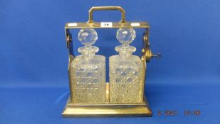 A silver plated Tantalus,