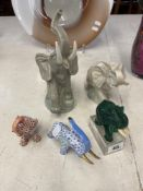 Five Elephant figures inc.