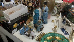 A qty of oriental china etc.