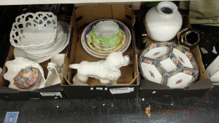 A qty of assorted vases and china