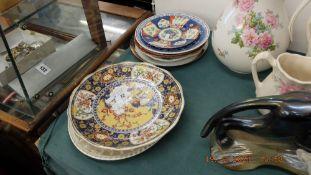 Two large Chinese plates, Imari plate,