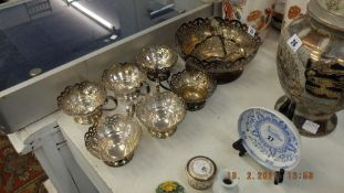 Mappin and Webb silver plated part punch bowl set
