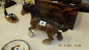 A Beswick shire horse, figurine,