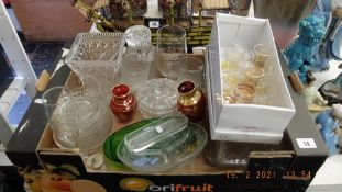 A box of glassware
