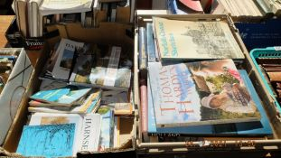 Two boxes of books, Norfolk etc.
