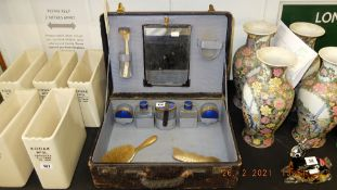 A fitted vanity case