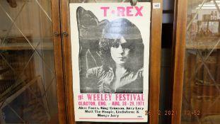 A 1971 T-Rex poster,