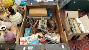 A box of toys etc.