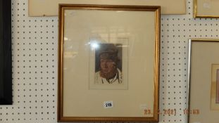 A framed and glazed watercolour,