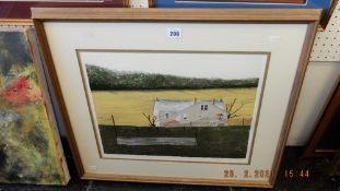 A framed and glazed print,