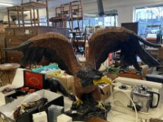 A decorative resin eagle