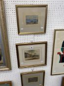 Three gilt framed watercolours