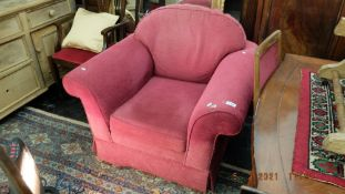 A Laura Ashley pink upholstered armchair