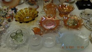 A qty of Carnival glassware