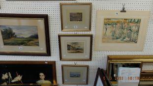 Three gilt framed watercolours