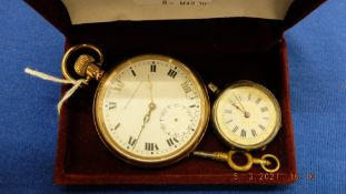 A silver pocket watch plus another
