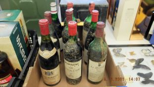 A qty of vintage wine, 1960's and 1970's etc.