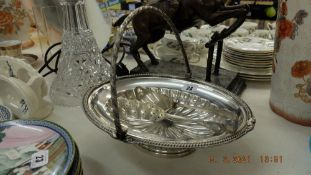 A Walker and Hall silver plated lidded bowl,