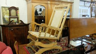 An American Walnut rocking chair