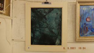 An unframed Aqua tint signed Kraemer