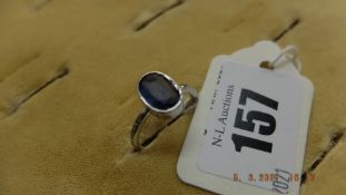 18ct Gold Diamond and Sapphire ring, approx.