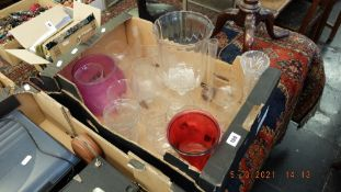 A qty of assorted glass