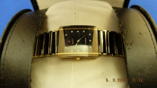 A Rado Integral Hi-tech ceramic and stainless steel Diamond men's watch inc.