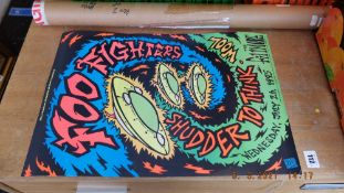 An 1995 'Foo Fighters' gig poster