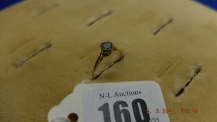 An 18ct gold and diamond solitaire ring